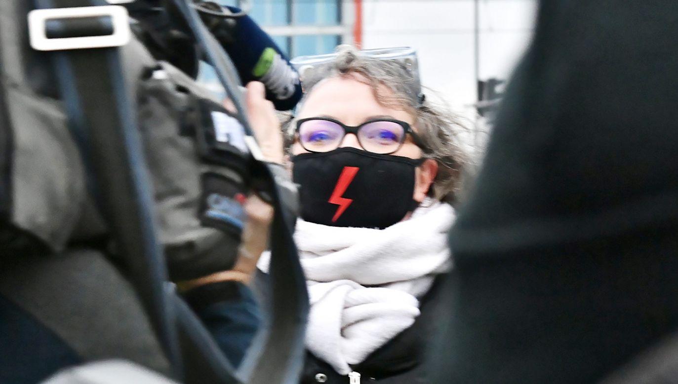 Liderka Ogólnopolskiego Strajku Kobiet Marta Lempart (fot. PAP/Andrzej Lange)