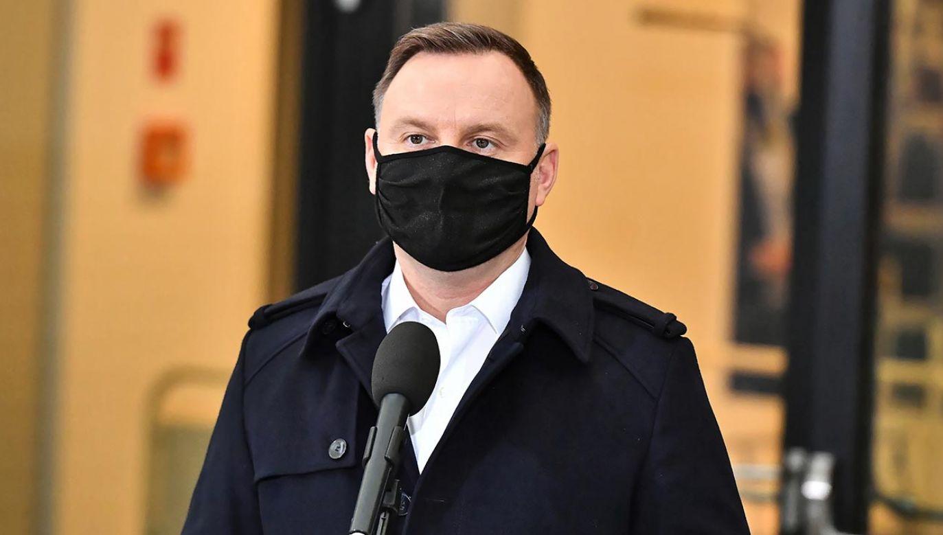 Prezydent powiedział, że czuje się dobrze (fot. PAP/Andrzej Lange)