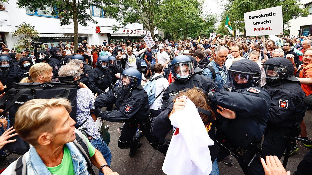W  proteście wzięło udział ok. 5 tysięcy manifestantów (fot. Abdulhamid Hosbas/Anadolu Agency via Getty Images)