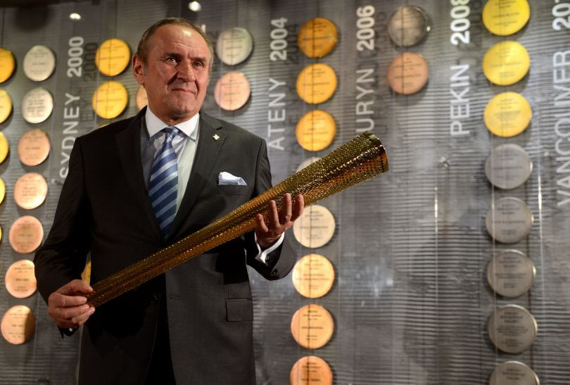 Prezes Polskiego Komitetu Olimpijskiego Andrzej Kraśnicki (fot. PAP/Bartłomiej Zborowski)