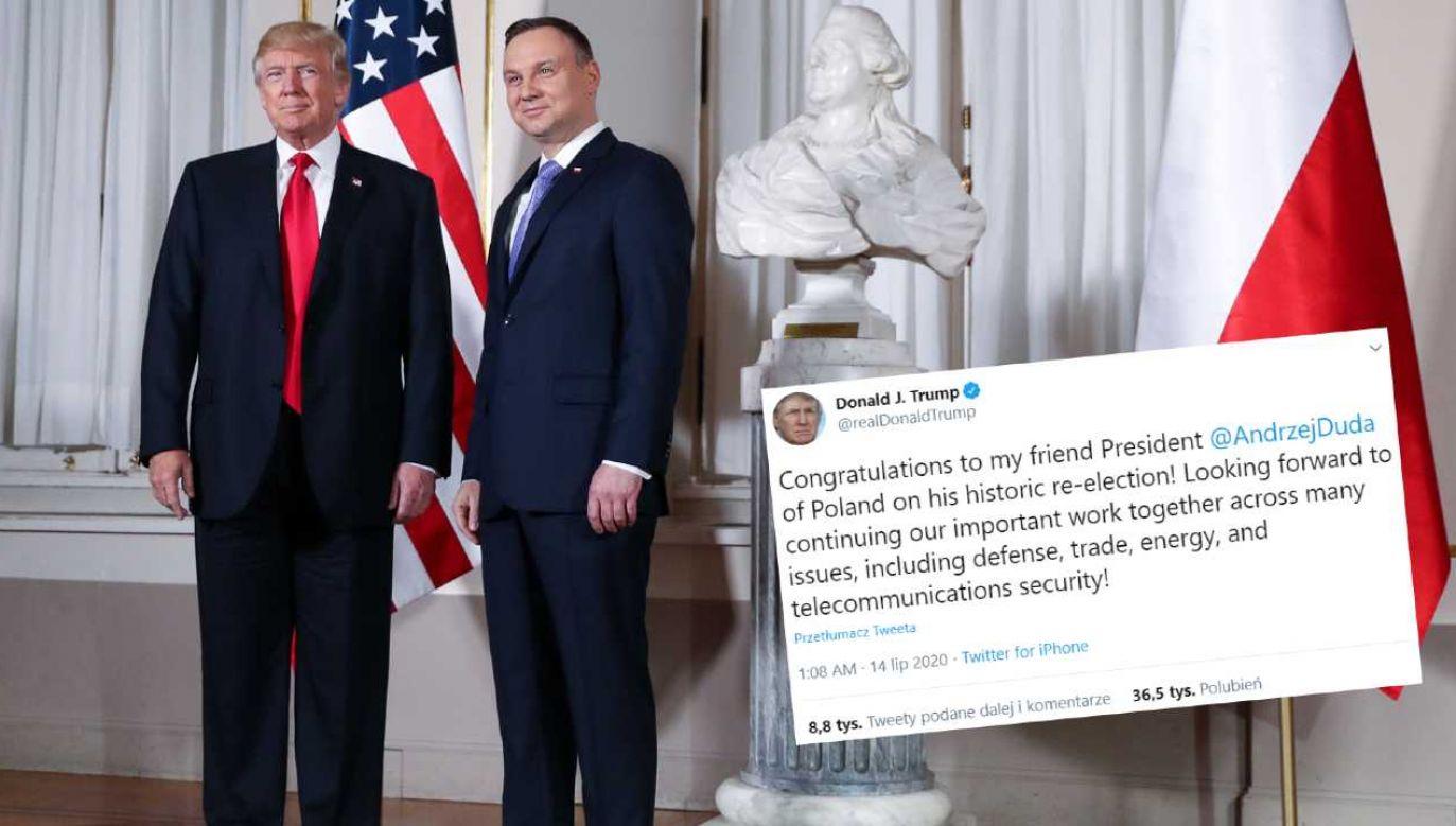 Donald Trump spotkał się w czerwcu z Andrzejem Dudą (fot. KPRP/Krzysztof Sitkowski)