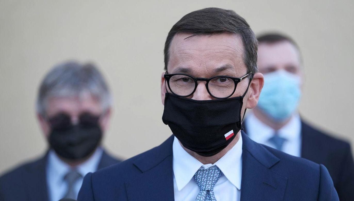 Mateusz Morawiecki o budowie domów bez formalności (fot. PAP/Mateusz Marek)