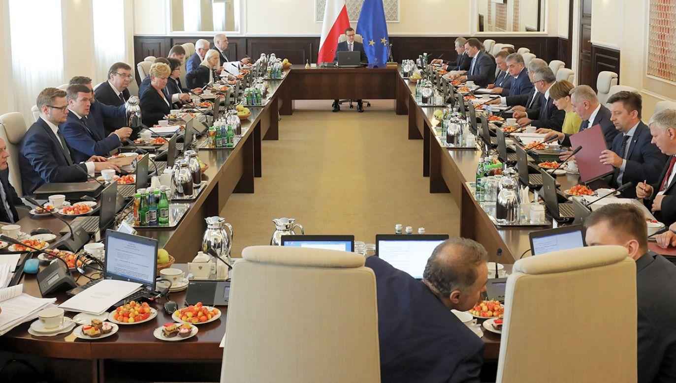 Posiedzenie rządu (fot. PAP/Paweł Supernak)