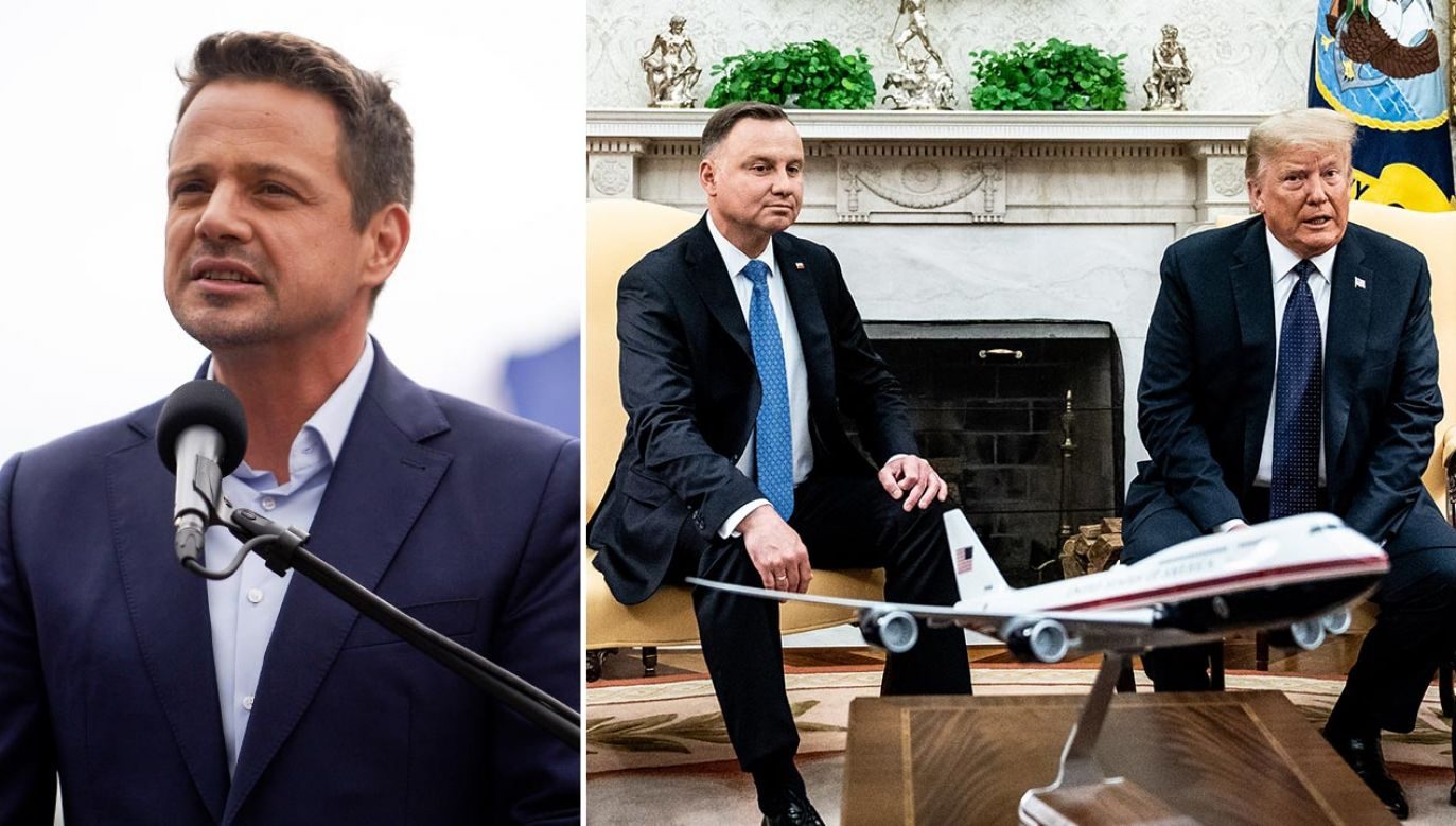 Rafał Trzaskowski chwali się rozmową z byłym prezydentem Stanów Zjednoczonych Barackiem Obamą (fot. Omar Marques/Getty Images; Erin Schaff-Pool/Getty Images)