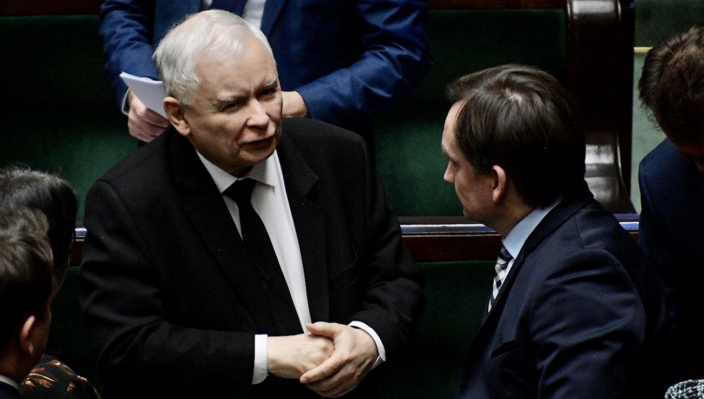 Nieoficjalnie: Jarosław Kaczyński ma rozmawiać ze Zbigniewem Ziobrą (fot. arch.PAP/Marcin Obara)