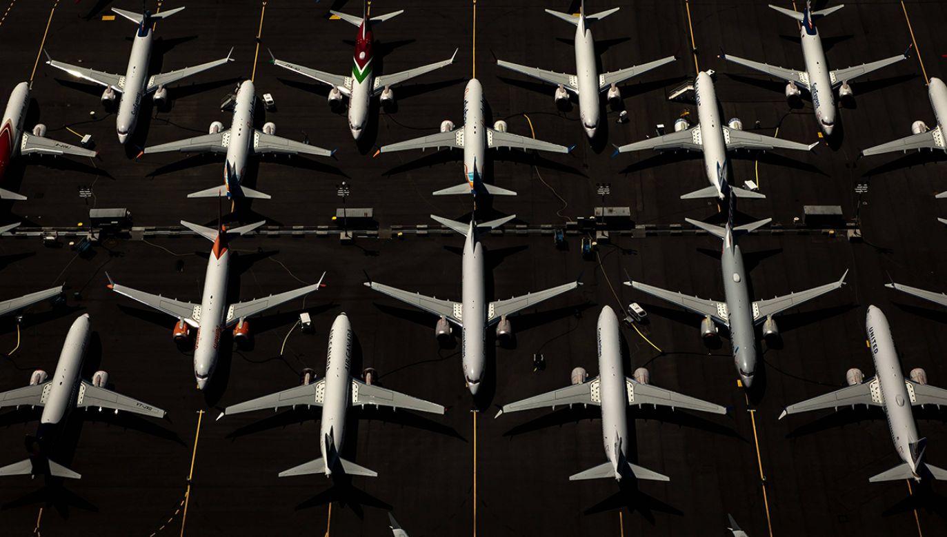 W miejsce uziemionych MAX-ów PLL LOT wypożycza inne samoloty (fot. arch. PAP/EPA/GARY HE)