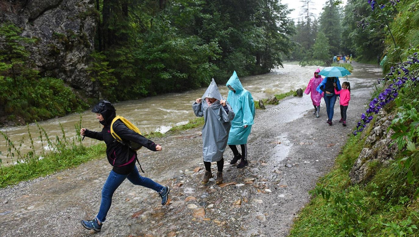 Widoczność wysoko w górach jest bardzo ograniczona (fot. Forum/Marcin Szkodzinski)