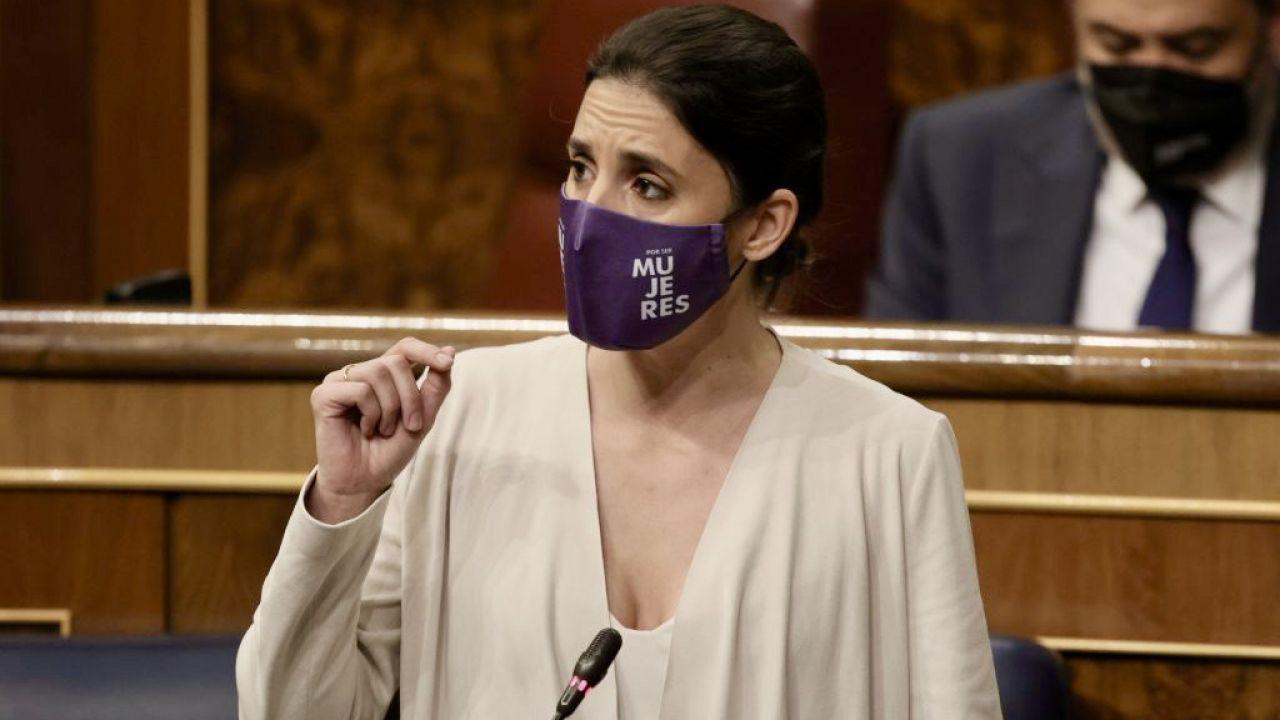 Hiszpańska minister równości Irene Montero (fot. EUROPA PRESS/E. Parra./Getty Images)
