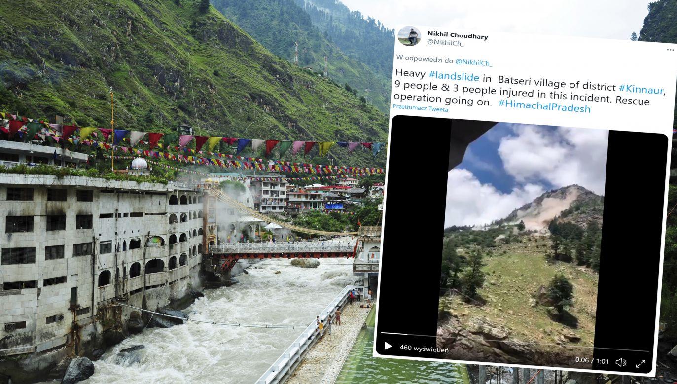 W tragicznym osuwisku zgineło 9 osób (fot. Anthony Asael/Art in All of Us/Getty Images / Twitter/Nikhil Choudhary)