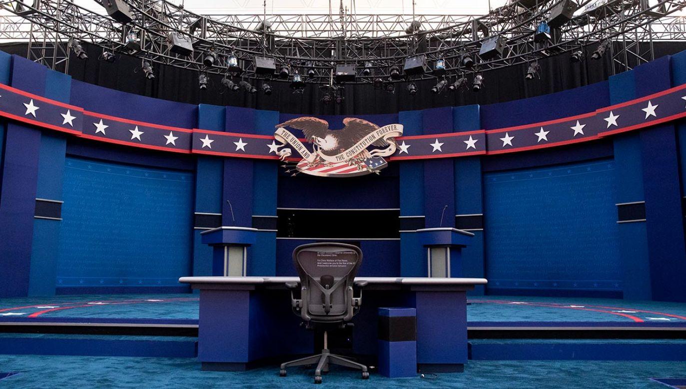 90-minutowa debata rozpocznie się według czasu polskiego o godz. 3 w nocy  (fot. PAP/EPA/MICHAEL REYNOLDS)