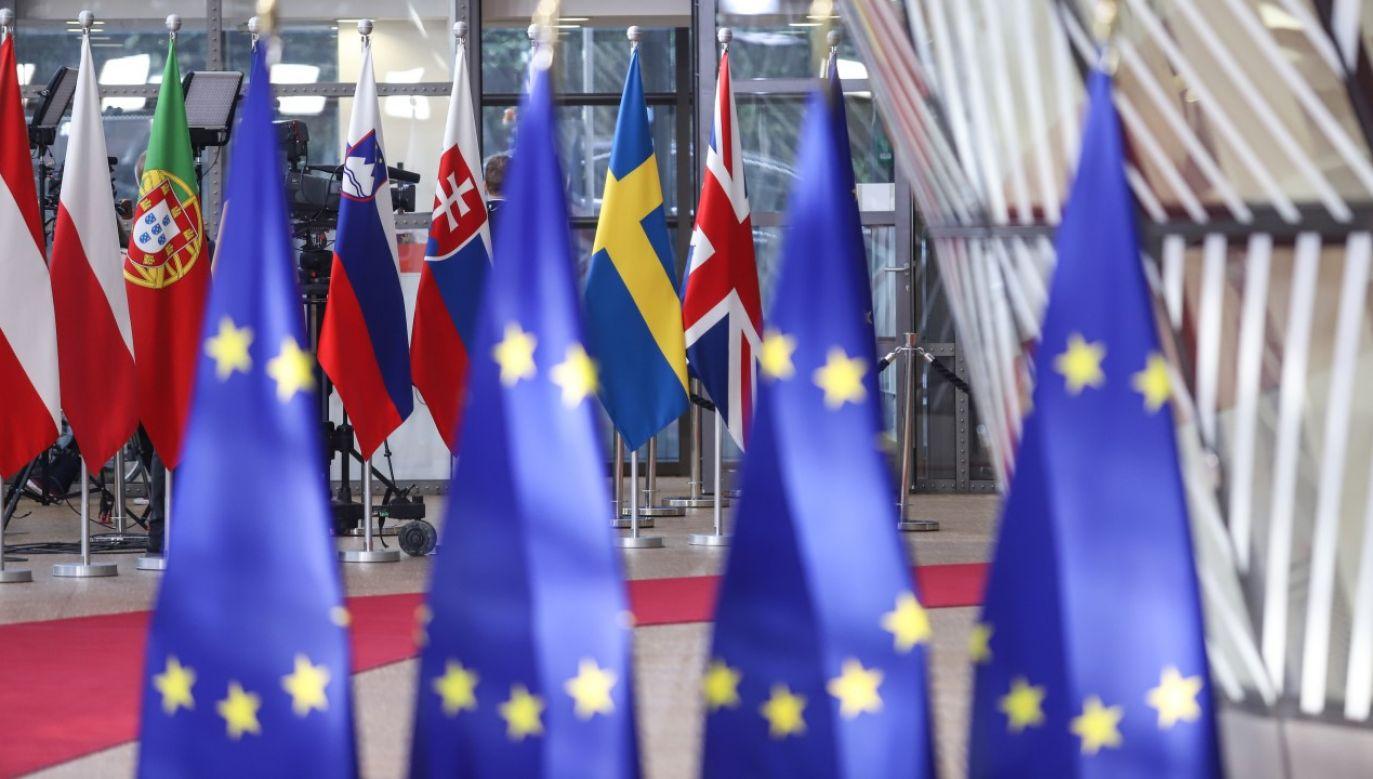 """Patryk Jaki w """"Strefie starcia"""" tłumaczył, dlaczego poponowane w budżecie europejskim zapisy są niebezpieczne (fot. Nicolas Economou/NurPhoto via Getty Images)"""