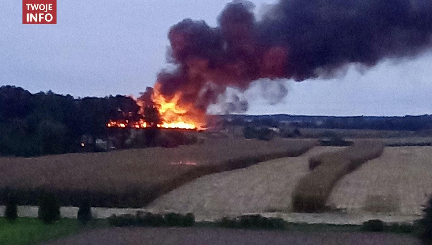 Zdjęcie z pożaru otrzymaliśmy na twoje@tvp.info (fot. Twoje Info)