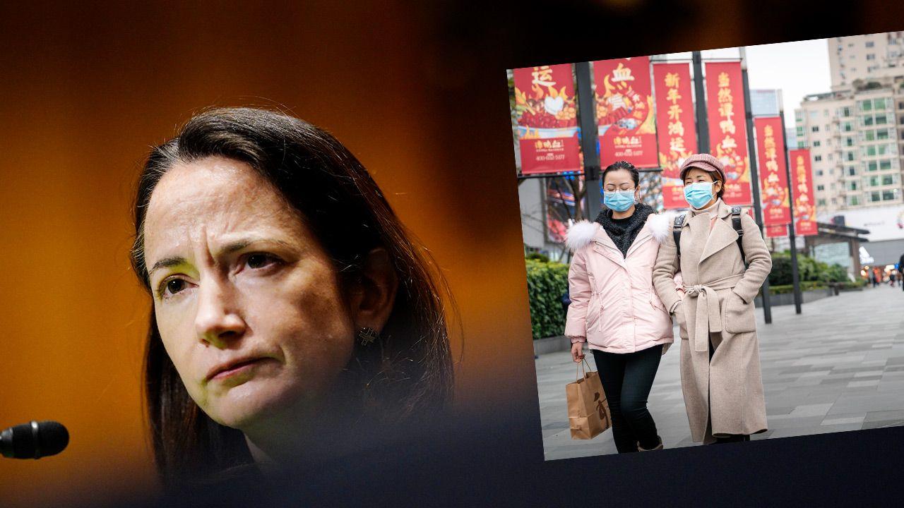 """Avril Haines, zapewniła, że amerykańskie służby będą dalej """"pracowały nad sprawą koronawirusa"""" (fot. Melina Mara-Pool/Getty Images; Shutterstock)"""