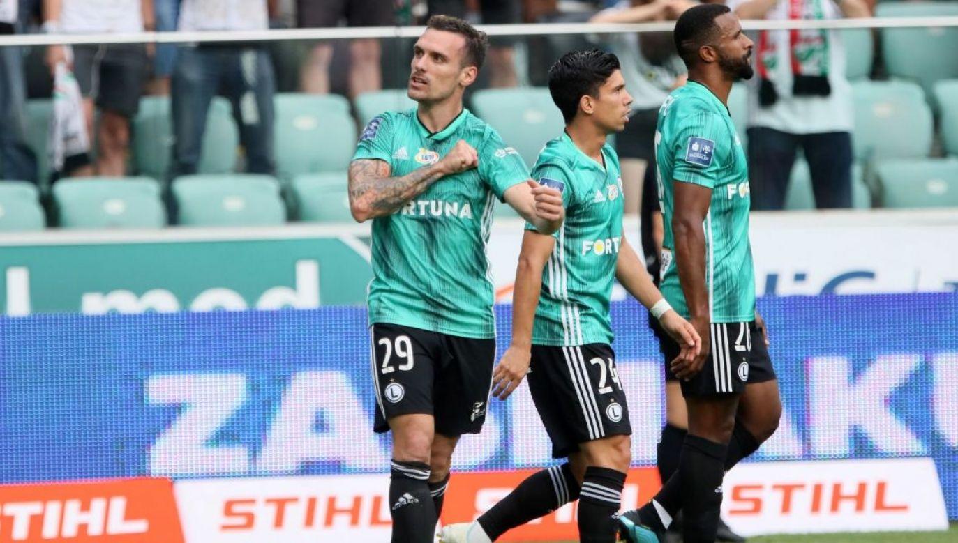 Największe szanse na grę w fazie grupowej Ligi Europy mają piłkarze Legii Warszawa (fot. PAP)