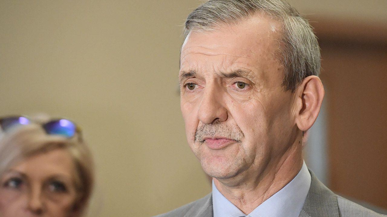 Prezes ZNP Sławomir Broniarz (fot. PAP/Radek Pietruszka)