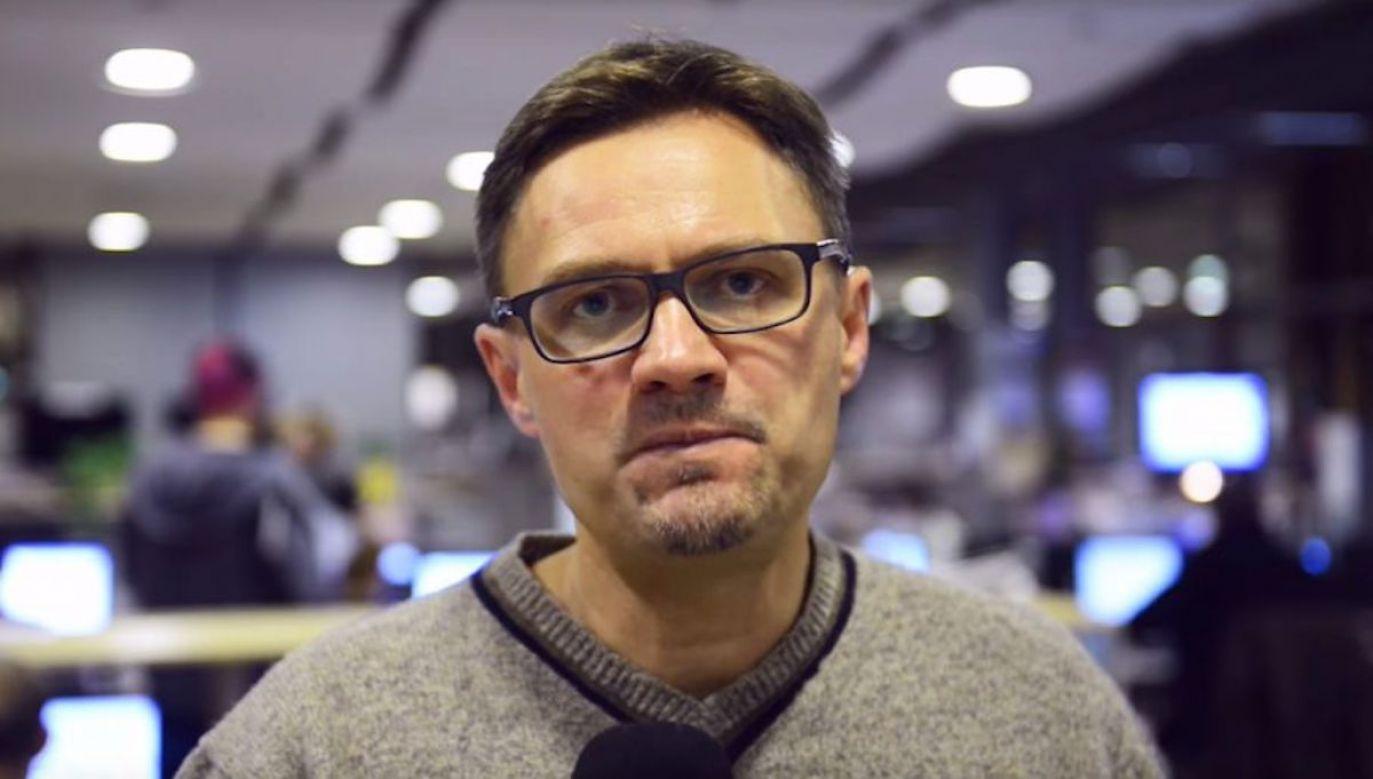 """""""Wroński stał się autorem manipulacji swojej własnej gazety"""" (fot. yt/Gazeta Wyborcza)"""