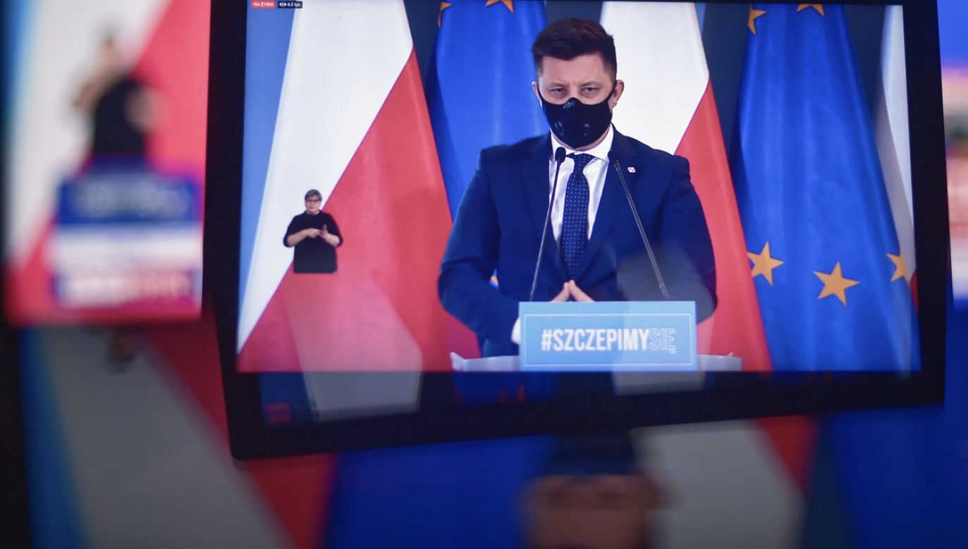 Michał Dworczyk o szczepionkach i walce z koronawirusem (fot. PAP/M.Obara)