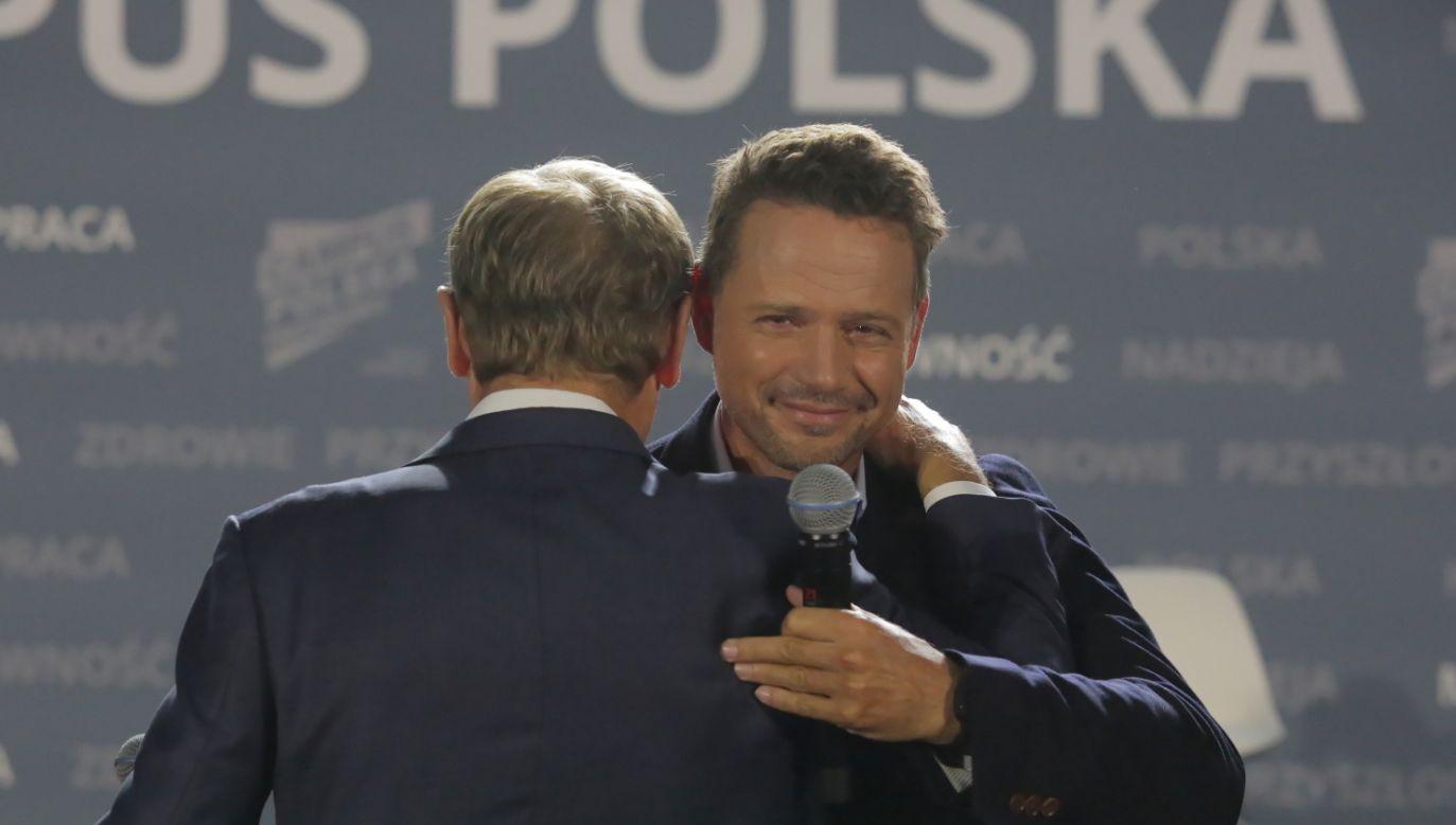 Rafał Trzaskowski oraz Donald Tusk na Campus Polska Przyszłości (fot. PAP/Tomasz Waszczuk)