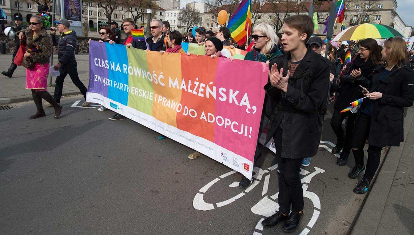 Marsz Równości w Łodzi (fot.  arch. PAP/Grzegorz Michałowski)