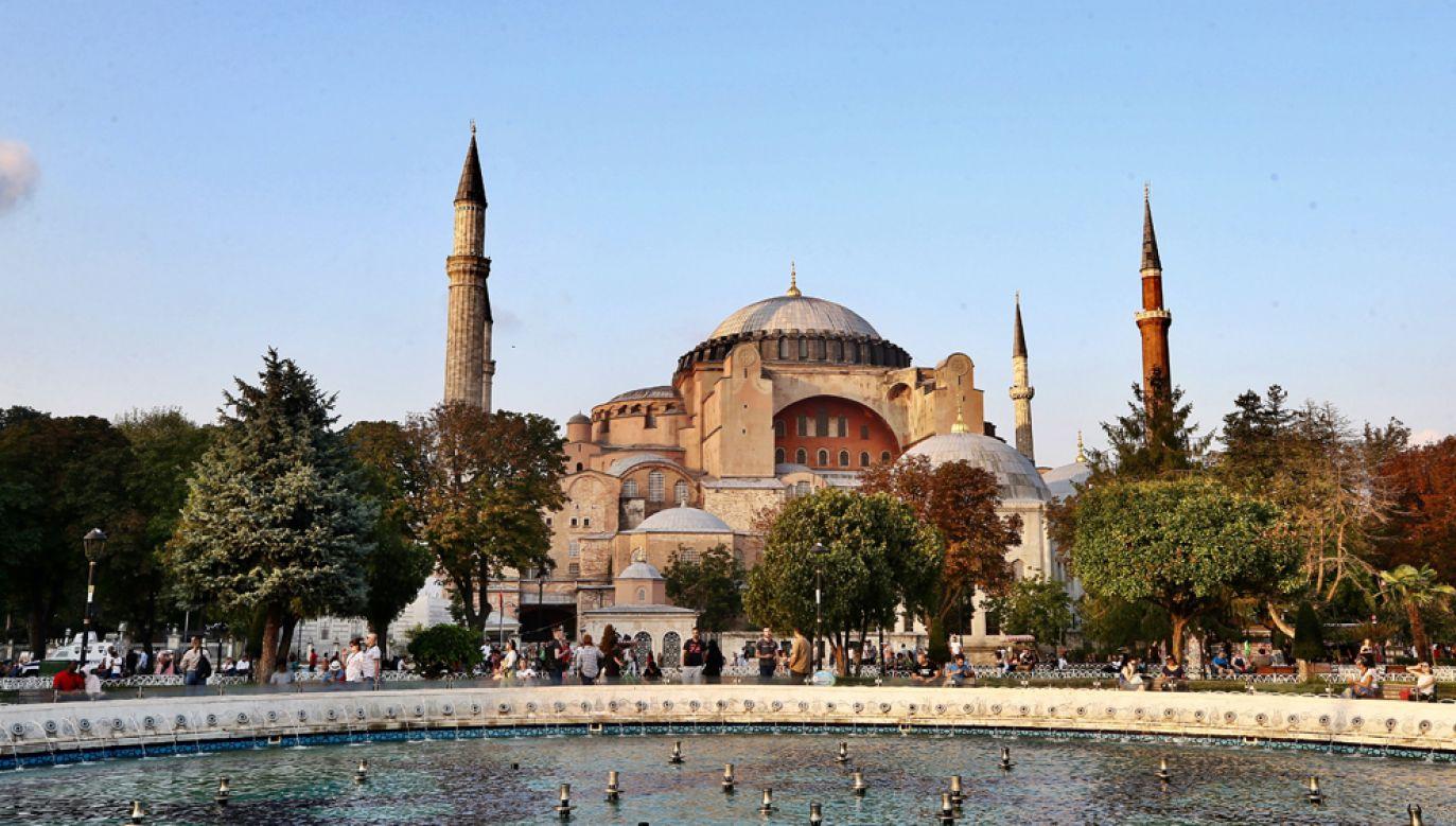 Wybudowana w latach 532-537 świątynia, nazwana kościołem Mądrości Bożej, była przez prawie 900 lat siedzibą patriarchy Konstantynopola i miejscem koronacji cesarzy bizantyjskich (fot.  Ahmet Bolat/Anadolu Agency/Getty Images)