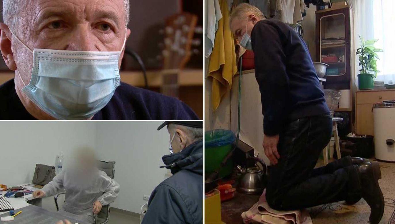 Pan Marian walczy o godne życie (fot. TVP1)