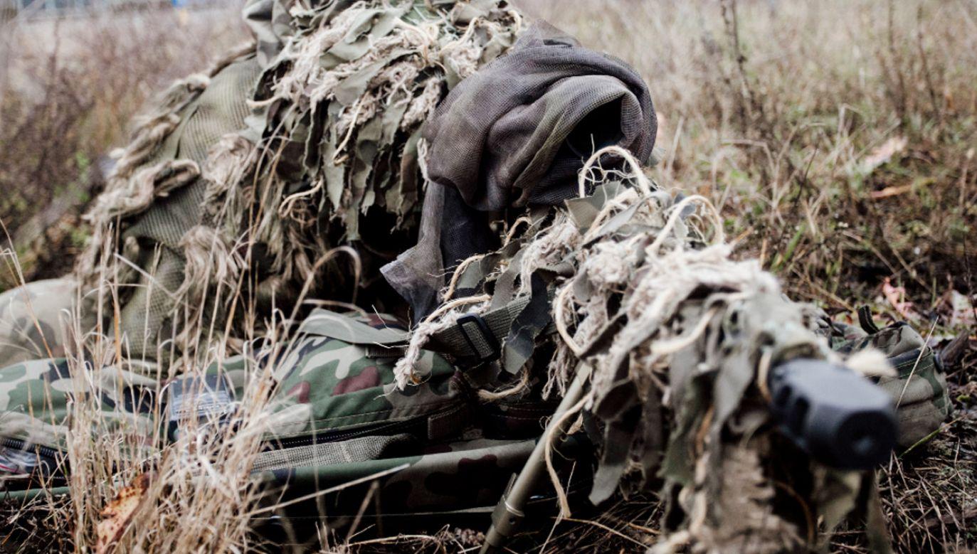 Żołnierze m.in. strzelali od 300 do 600 m do celów ruchomych w nocy(fot. WOT)