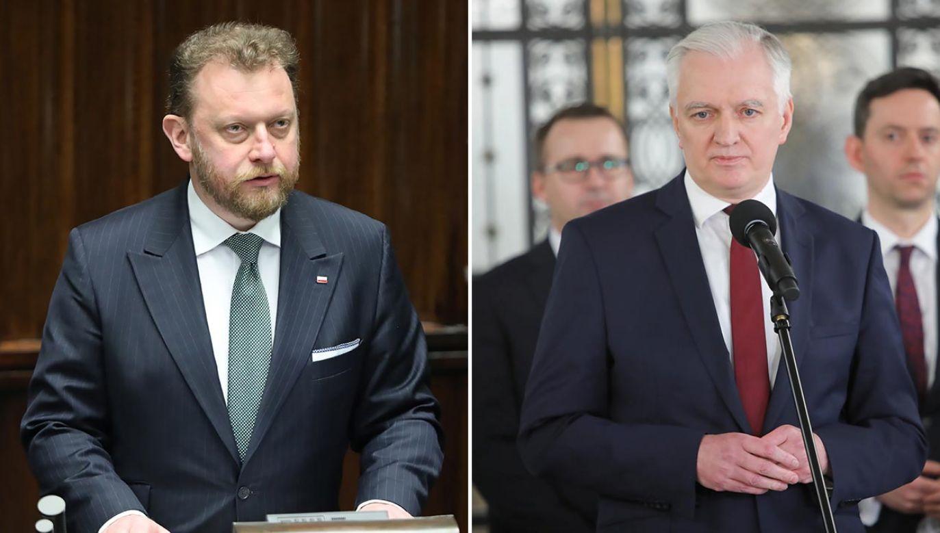 Minister zdrowia odpowiada liderowi Porozumienia (fot. PAP/Wojciech Olkuśnik)