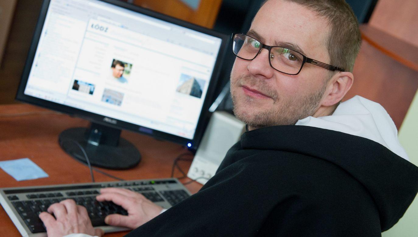 O. Paweł Gużyński jako przeor klasztoru oo. Dominikanów w Łodzi w 2013 roku. Fot. PAP/Grzegorz Michałowski