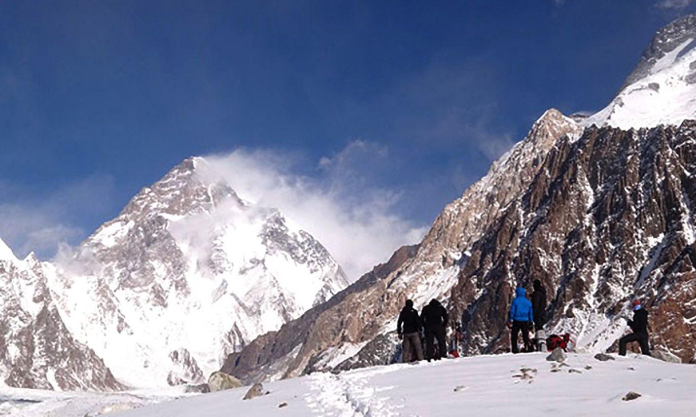 Na morenie w pobliżu obozu pod Broad Peak (fot. Wyprawa na K2)