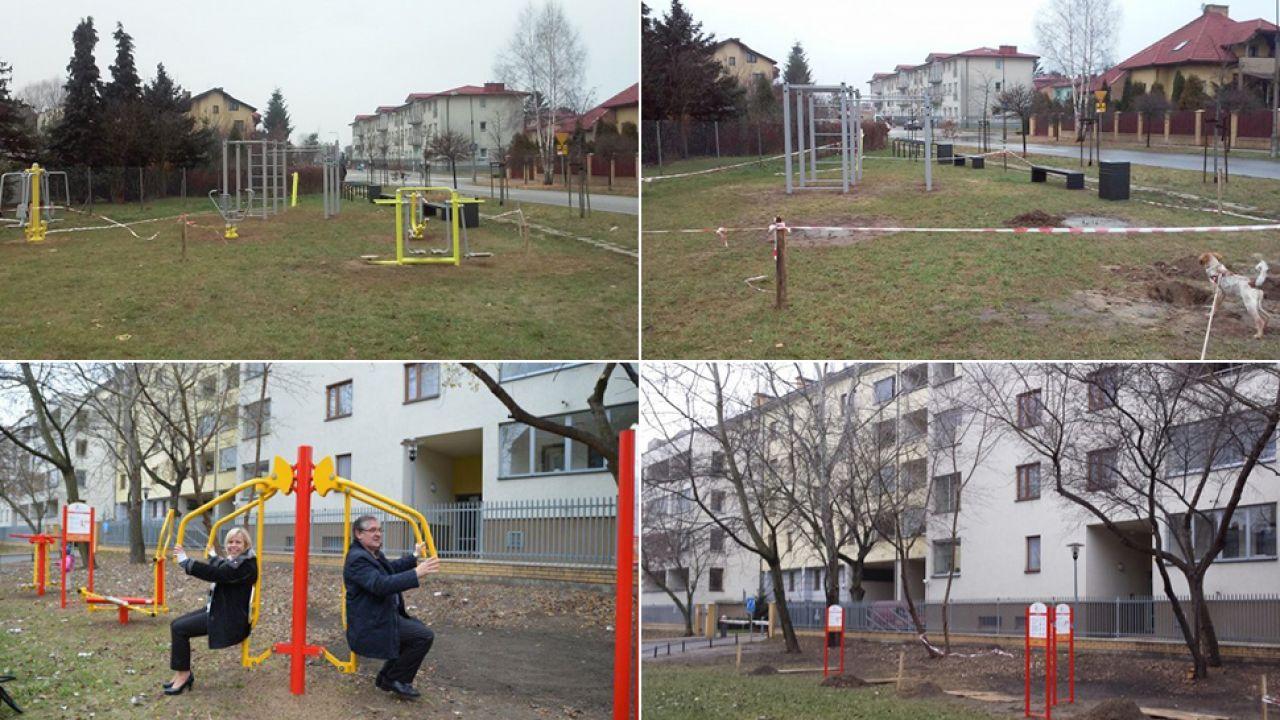 Otwierane przed wyborami, zamykane kilka dni później. Znikające siłownie plenerowe (fot.www.targowek.info)