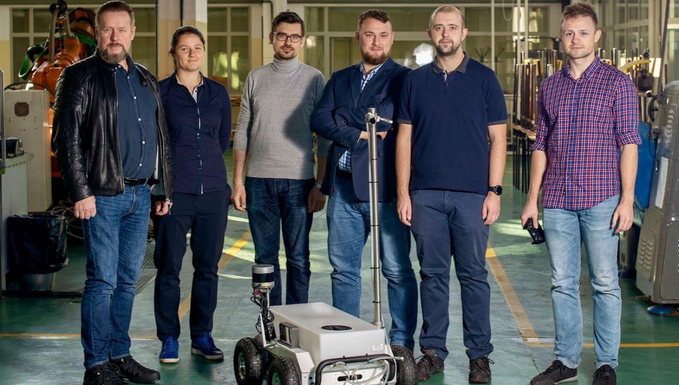Prace nad robotem prowadzono od trzech miesięcy (fot. FB/Zachodniopomorski Uniwersytet Technologiczny w Szczecinie)