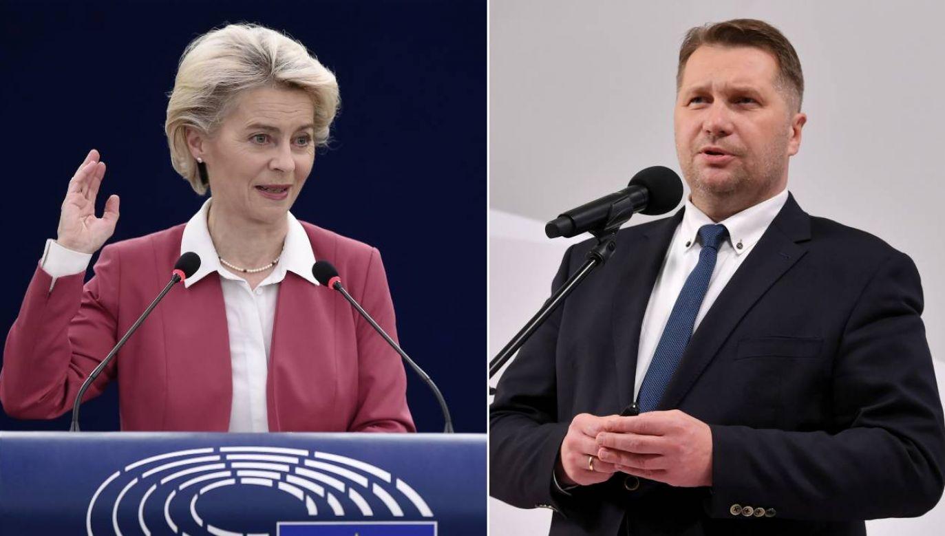 Przemysław Czarnek skrytykował Ursulę von de Leyen (fot. PAP/EPA/FREDERICK FLORIN / POOL/Piotr Nowak)