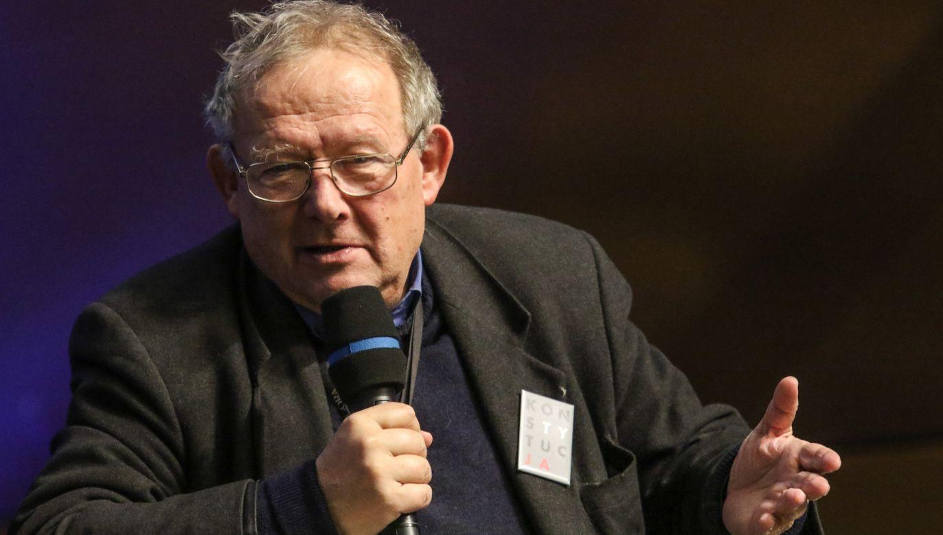 """Adam Michnik, redaktor naczelny """"Gazety Wyborczej""""  (fot. Michal Fludra/NurPhoto via Getty Images)"""