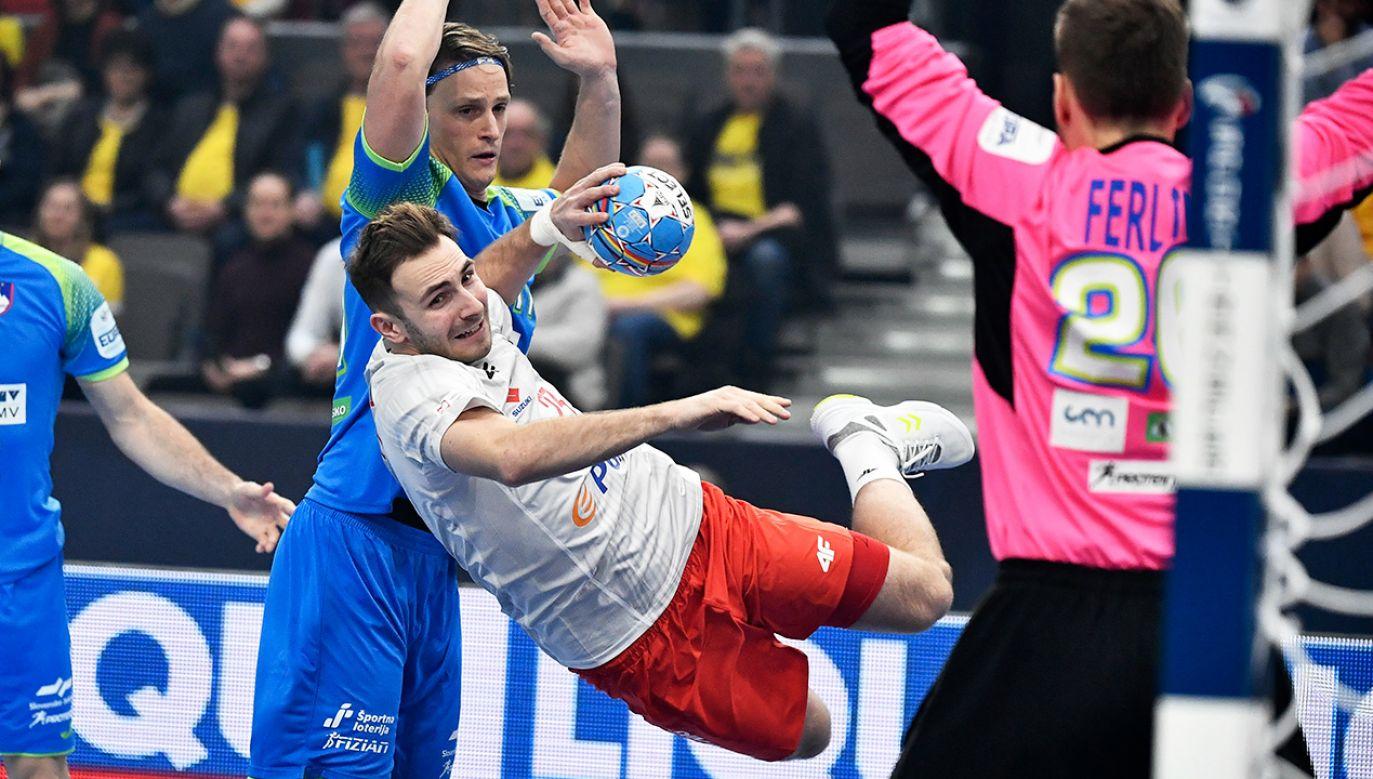 Arkadiusz Moryto rzucił siedem bramek i był najskuteczniejszych z Polaków (fot. PAP/EPA/Bjorn Larsson Rosvall/TT)