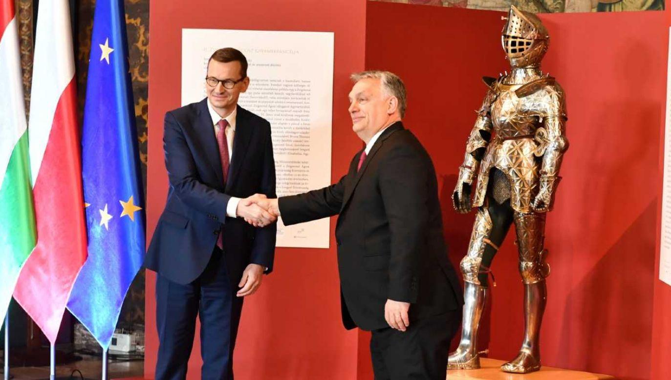 Premier Mateusz Morawiecki podziękował Viktorowi Orbanowi (fot. PAP/Art Service 2)