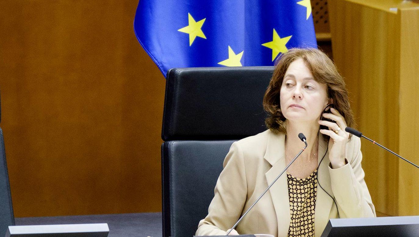 Wiceprzewodnicząca Parlamentu Europejskiego Katarina Barley (fot. Thierry Monasse/Getty Images)