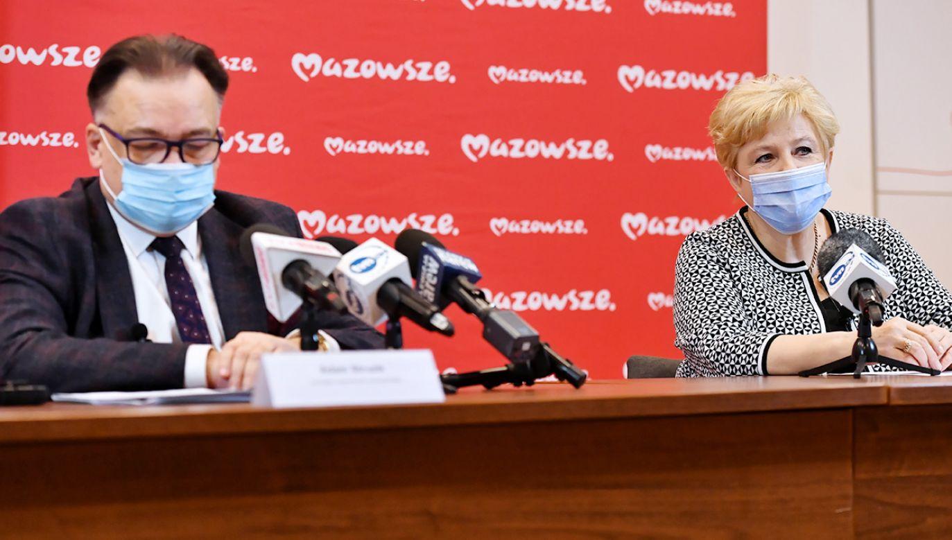 Informacje podano na specjalnie zwołanej konferencji prasowej (fot. PAP/Piotr Nowak)