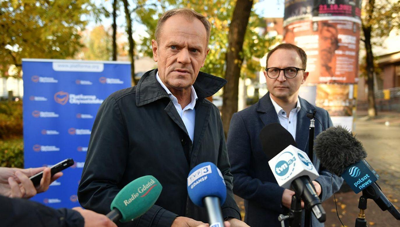 Donald Tusk, jedyny kandydat na przewodniczącego PO (fot. PAP/Adam Warżawa)