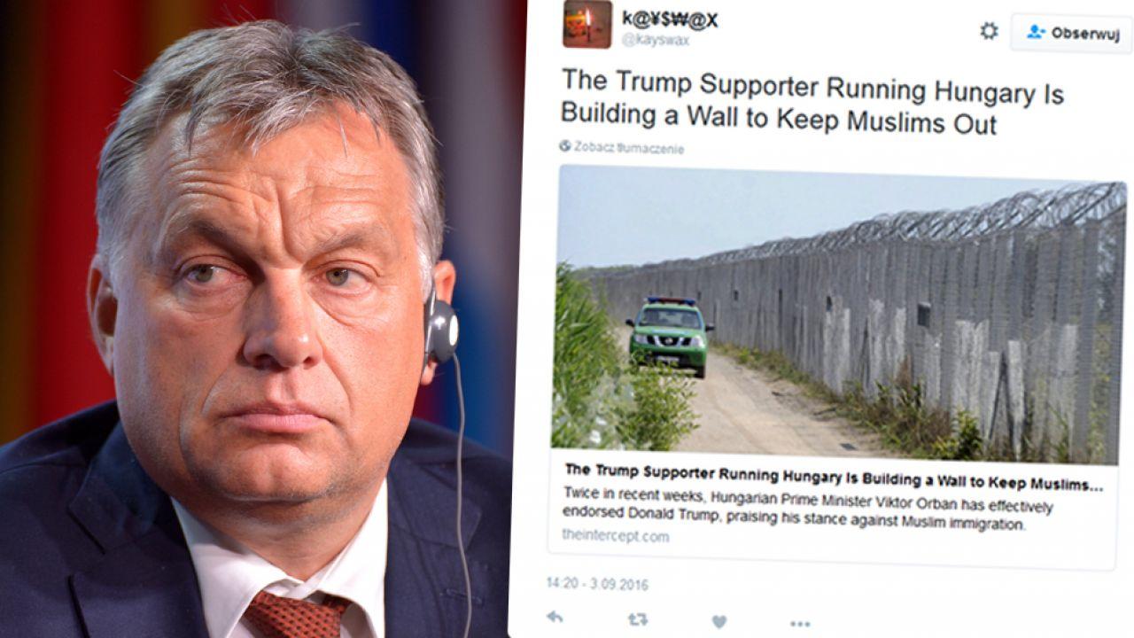 Polityka Viktora Orbana ws. uchodźców jest krytykowana przez MSZ Luksemburga (fot. arch. PAP. Darek Delmanowicz/Twitter)