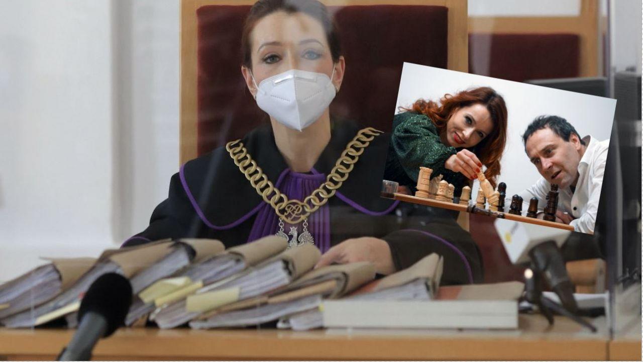 Sędzia Agnieszka Warchoł i aktor Mariusz Pogonowski (fot. PAP/Szymon Łabiński; Facebook/Agnes War)