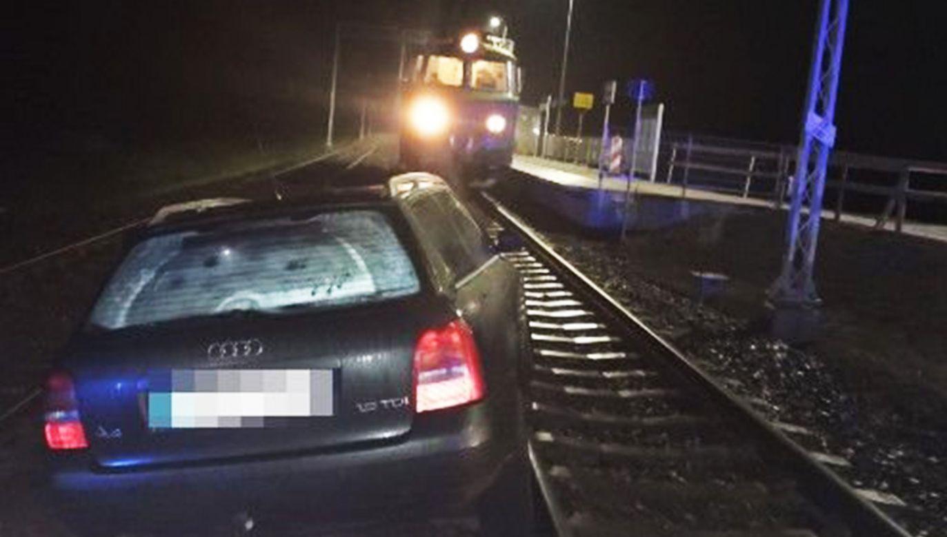 Kierowca miał 1,7 promila alkoholu w organizmie (fot.Policja)
