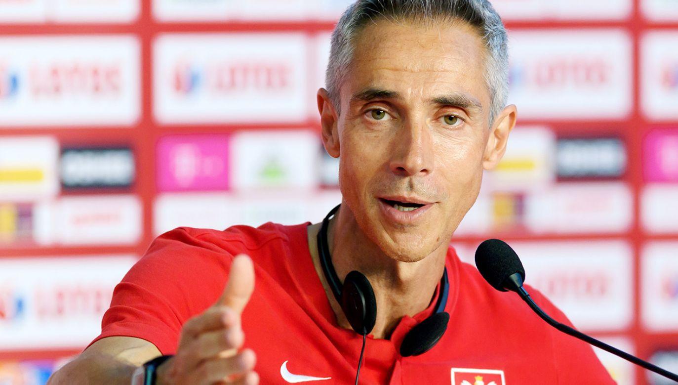 Paulo Sousa podał skład na mecz z Islandią (fot. PAP/Jakub Kaczmarczyk)