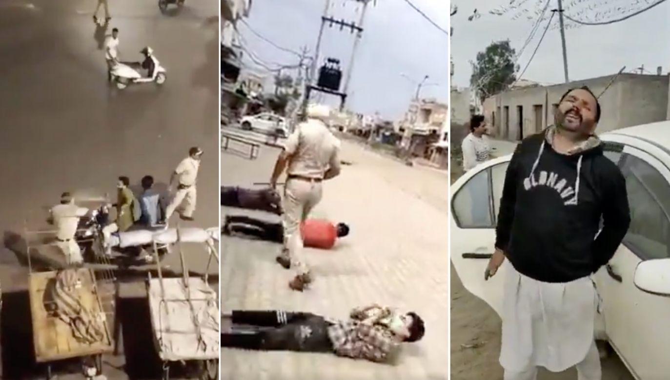 W Indiach walka z koronawirusem przyjęła agresywne formy (fot. Twitter.com)