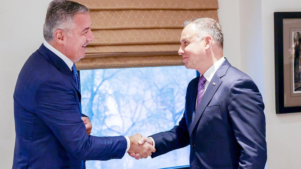 Prezydent RP Andrzej Duda spotkał się w środę w Nowym Jorku z prezydentem Czarnogóry Milo Djukanovićem (fot. PAP/Jakub Szymczuk/KPRP)