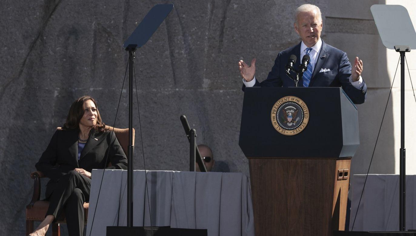 Joe Biden podkreślił, że USA są zobowiązane do obrony Tajwanu (fot. PAP/EPA/Oliver Contreras)