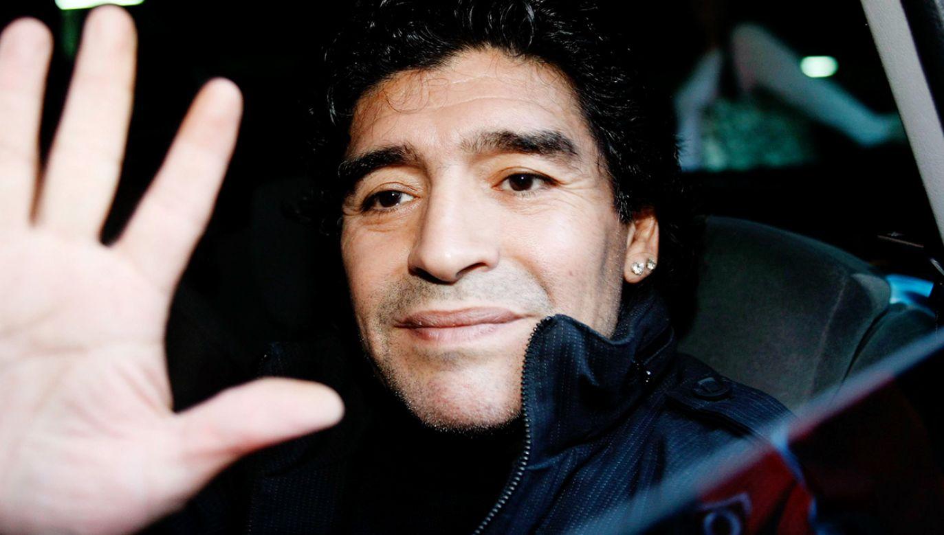 Diego Maradona był jednym z najlepszych piłkarzy w historii (fot. PAP/EPA/ALBERTO ESTEVEZ)