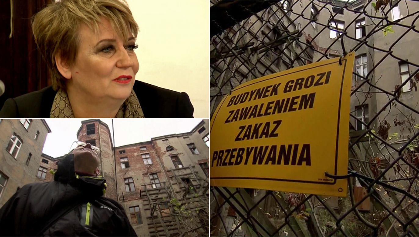 Hanna Zdanowska twierdzi, że problem mieszkańców rozwiąże ustawa (fot. TVP1)