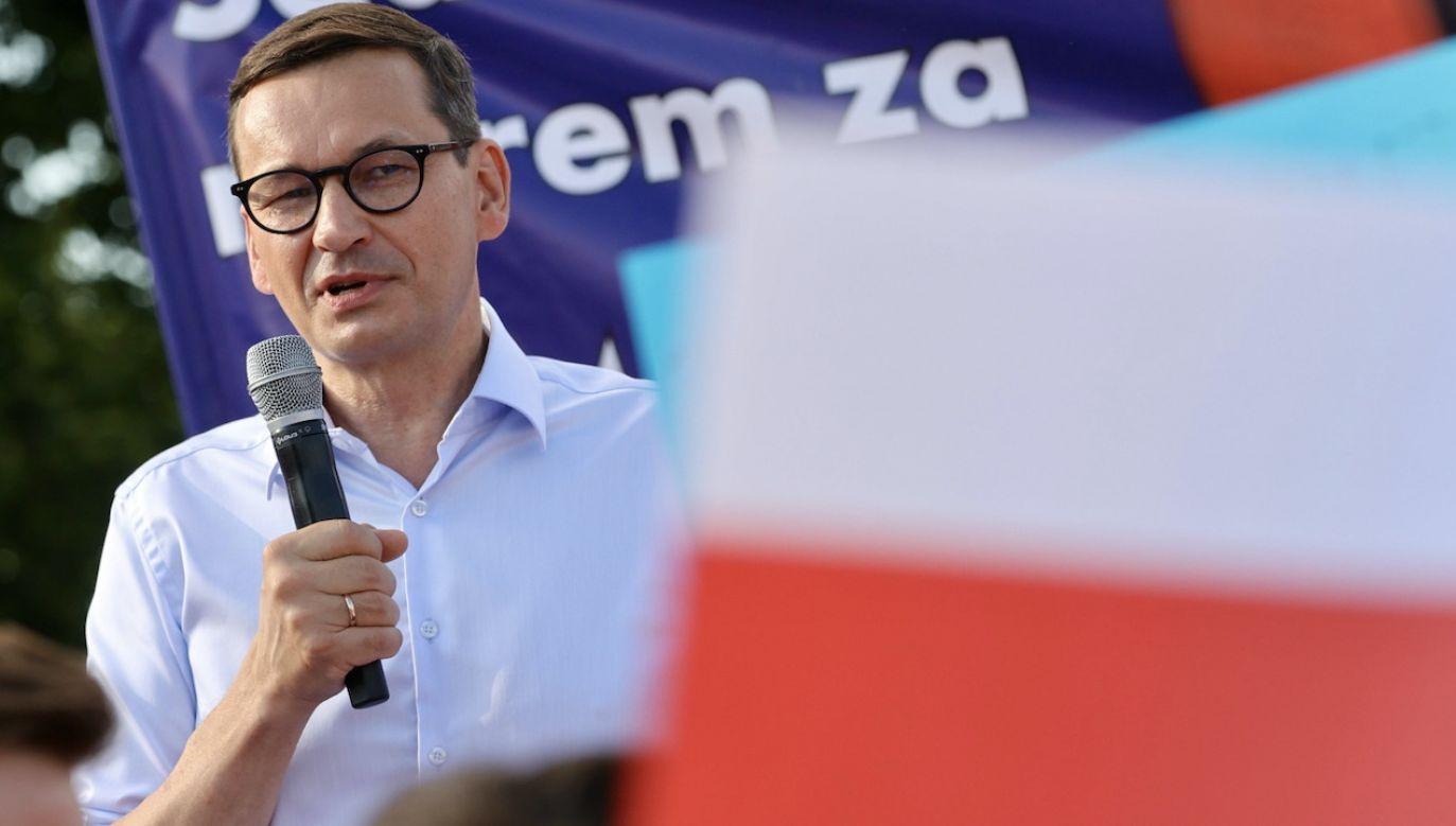 Mateusz Morawiecki przebywał z wizytą w Starym Sączu (fot. PAP/Grzegorz Momot)