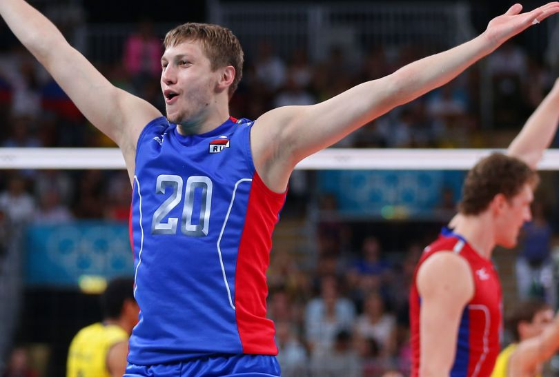 Libero Aleksiej Obmoczajew w tie-breaku punkt dla Rosjan (fot. Getty Images)