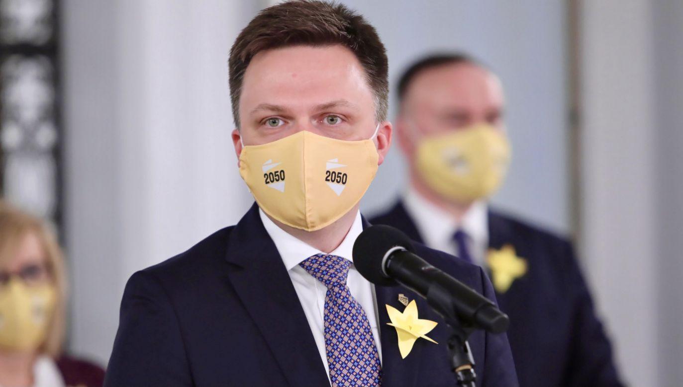 Hołownia ma kolejnego posła opozycji (fot. PAP/Wojciech Olkuśnik)